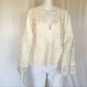 NANETTE LEPORE WOMAN EMBROIDERED BLOUSE SIZE 6